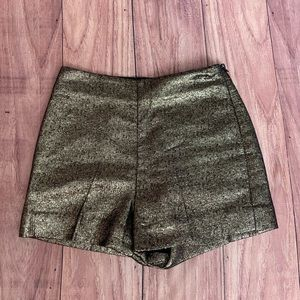 Diane Von Furstenberg Gold Metallic Shorts